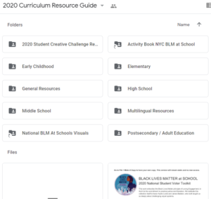 2020 Curriculum Resource Guide