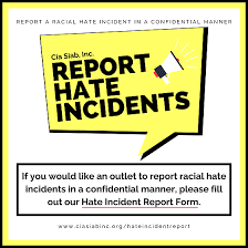 Cia Siab, Inc. Hate Incident Report Form