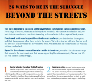 26 Ways to Support the Struggle Beyond the Streets