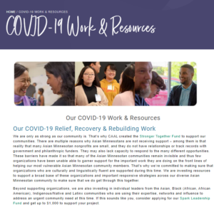 COVID-19 Work & Resources
