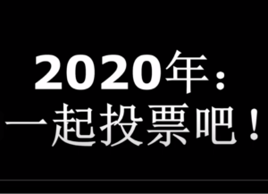 2020: Let's Vote Together/2020:一起投票吧!