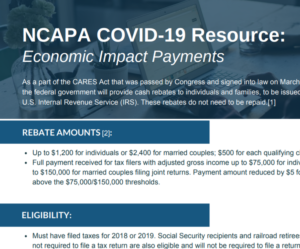 NCAPA COVID-19 Taskforce Factsheets