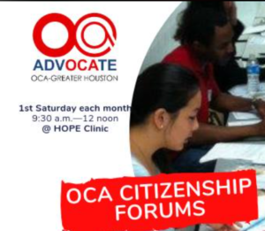 OCA-Greater Houston Monthly Immigration Forums