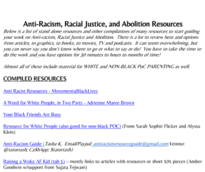 Anti-Racism, Racial Justice, and Abolition Resources