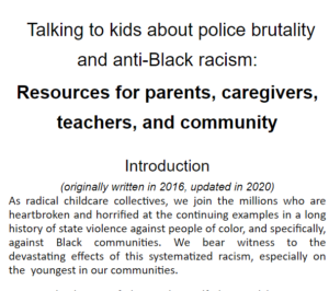 Talking to Kids About Police Brutality: A Community Resource List