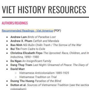 Viet History Resources