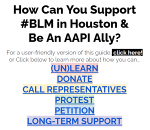 How Can You Support #BLM in Houston & Be An AAPI Ally?