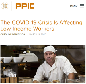 The COVID-19 Crisis is Affecting Low-Income Workers