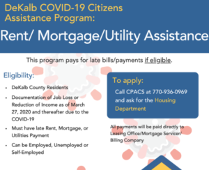 Rent, Mortgage, and Utility Assistance to DeKalb County Residents