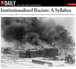 Institutionalized Racism: A Syllabus