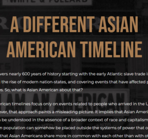 A Different Asian American Timeline