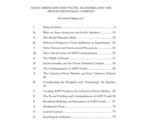 Asian Americans and Pacific Islanders and the Prison Industrial Complex by Raymond Magsaysay